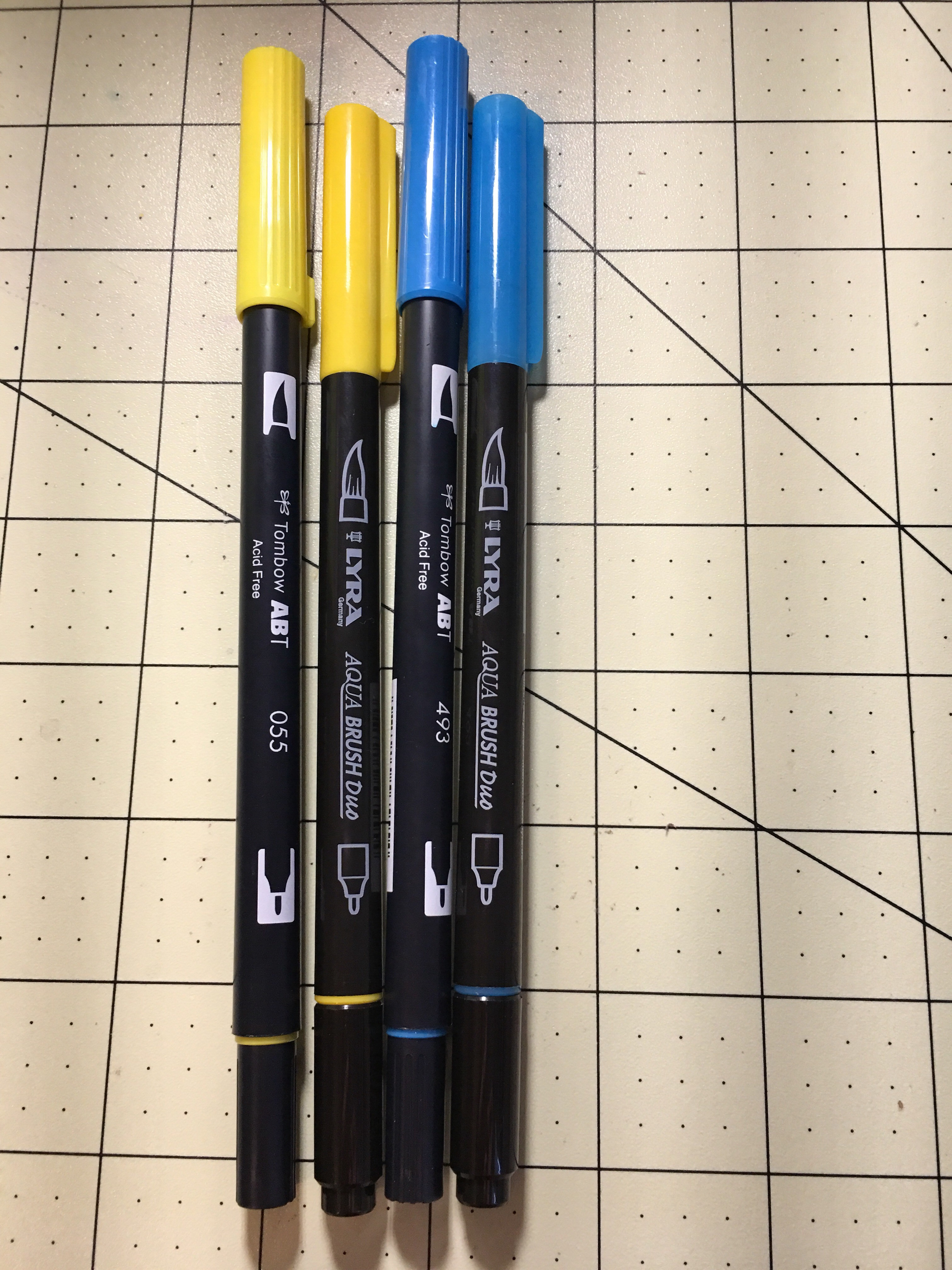 Lyra Aqua Brush Review Rod Squad - Tombow abt markers